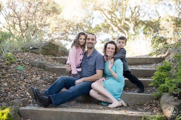 Family Group Portrait in Berkeley Botanical Garden
