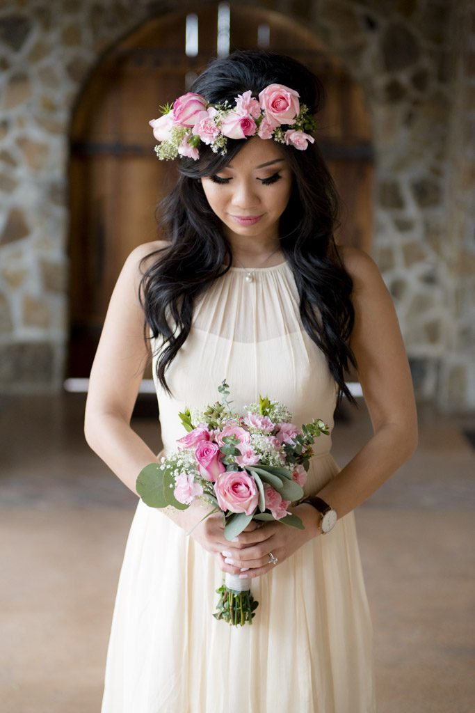 bride elopement at Jacuzzi Winery